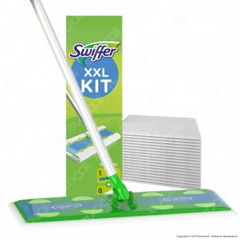 Kit Swiffer XXL Scopa con 8 Panni di Ricambio per la Pulizia del Pavimento