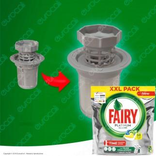 Fairy Platinum Detersivo in Capsule per Lavastoviglie - Confezione da 68 pastiglie