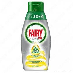 Fairy Platinum Gel detersivo per lavastoviglie al Limone 32 lavaggi - Flacone da 650ml