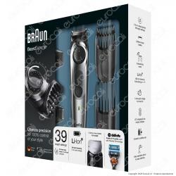Braun Regolabarba BT7040 Rasoio Barba Elettrico e Tagliacapelli, Rifinitore Di Precisione