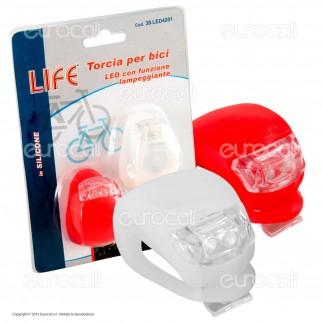 Life 2 Torce LED per Bici con Funzione Lampeggiante