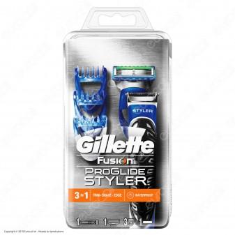 Gillette Fusion ProGlide Styler Regolabarba e Rasoio Rifinitore da Uomo con 3 Regolatori di Lunghezza e Lametta di Precisione
