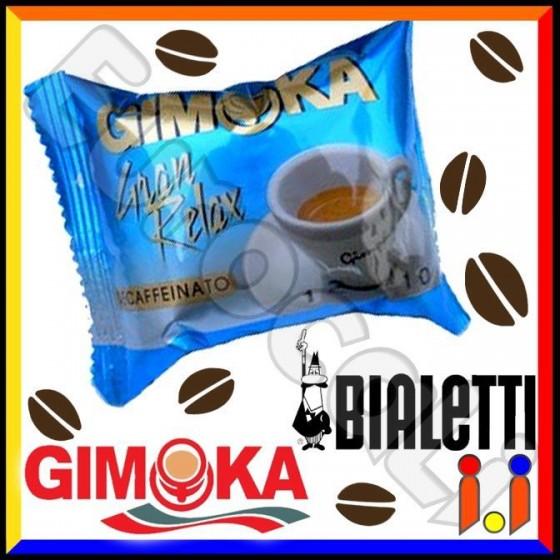 Cialde Caffè Gimoka Gran Relax Decaffeinato Compatibili Mokona / Tazzona Bialetti - Box 30 Capsule