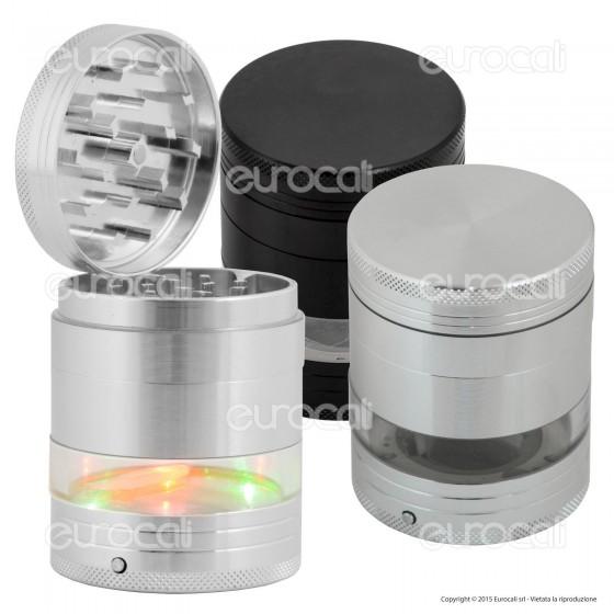 Grinder Tritatabacco 5 Parti in Metallo con Luci LED