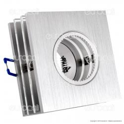 Kanlux ROVAN CTX-DS50L Portafaretto Quadrato da Incasso per Lampadine GU10 e GU5.3 - mod.18401