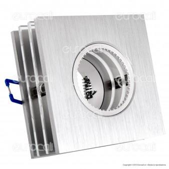 Kanlux ROVAN CTX-DS50L Portafaretto Quadrato da Incasso per Lampadine GU10 e GU5.3