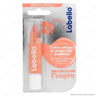 Labello Crayon Lipstick Nude Matitone Labbra Colora e Idrata - Confezione da 1pz
