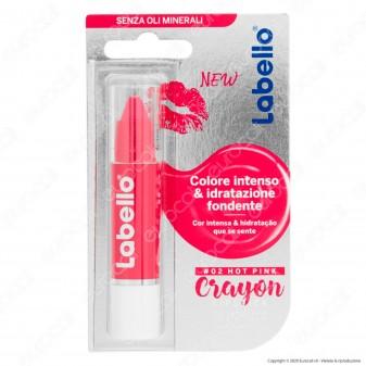Labello Crayon Lipstick Hot Pink Matitone Labbra Colora e Idrata - Confezione da 1pz