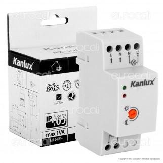 Kanlux AZ-10A TH 35Sensore Crepuscolare Universale per Lampadine