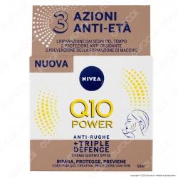 NIVEA Q10 Power Antirughe + Triple Defence Crema Giorno SPF 30 - Confezione da 50ml