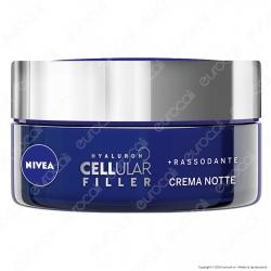 Nivea Hyaluron Cellular Filler Crema Notte Anti Rughe Rassodante con Acido Ialuronico - Confezione da 50ml