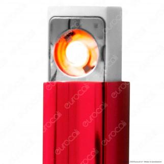 Atomic Accendino USB Ricaricaile Antivento in Metallo Lucido - 1 Accendino