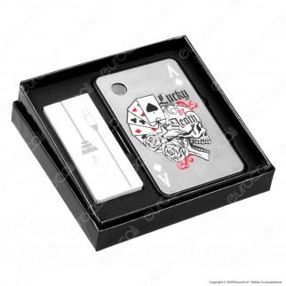 Champ Accendino Card USB in Metallo Antivento Ricaricabile - 1 Accendino