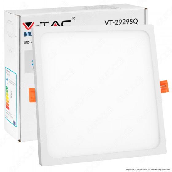 V-Tac VT-2929 SQ Pannello LED Quadrato 29W SMD da Incasso con Driver - SKU 5031 / 5032 / 5033