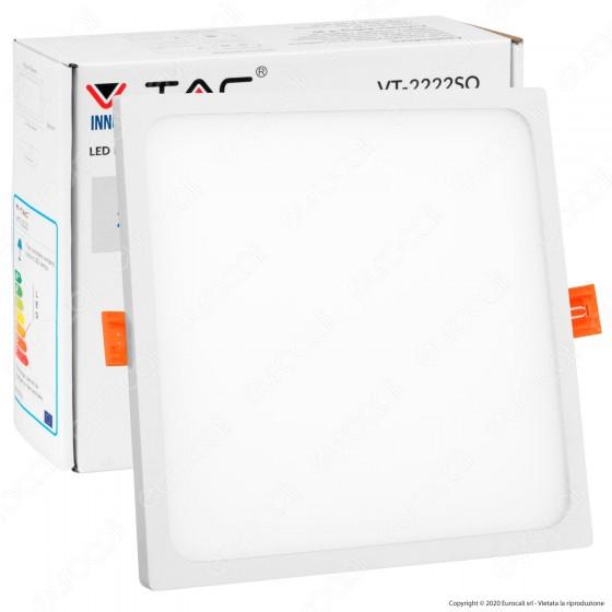 V-Tac VT-2222 SQ Pannello LED Quadrato 22W SMD da Incasso con Driver - SKU 4949 / 4797 / 4798