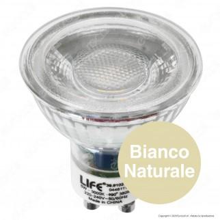 Life Lampadina LED GU10 5W Faretto Spotlight 38° in Vetro e Ceramica - 39.910255C / 39.910255N