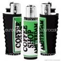 Clipper Large con Rivestimento in Gomma Fantasia Coffee Shop - 1 Accendino