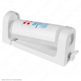 Dispenser Supporto da Parete Colore Bianco per Flacone Ricarica Gel Igienizzante Mani da 300ml