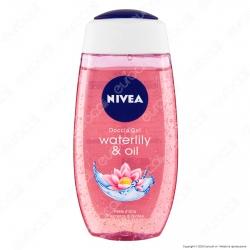 Nivea Doccia Gel Waterlily & Oil Idratante Detergente Perle d'Olio Fragranza di Ninfea - Flacone da 250ml