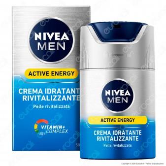 Nivea Men Active Energy Crema Idratante Rivitalizzante con Vitamine - Flacone da 50ml