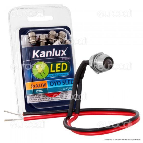 Kanlux OYO 5LED-CW Faretto Punto Luce LED da Incasso 0,22W - 5 Pezzi