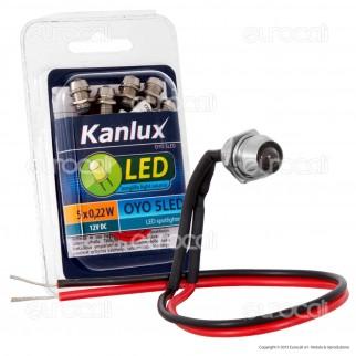 Kanlux OYO 5LED-CW Faretto Punto Luce LED da Incasso 0,22W - 5 Pezzi -mod.8121