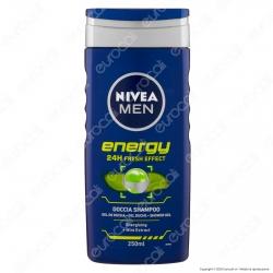 Nivea Men Gel Doccia Shampoo Energy con Estratto di Menta - Flacone da 250ml