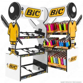 Espositore Bic da Banco in Compensato per 6 Box di Accendini Maxi Mini Slim