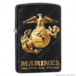 Accendino Zippo Mod. 49149 Marines - Ricaricabile Antivento
