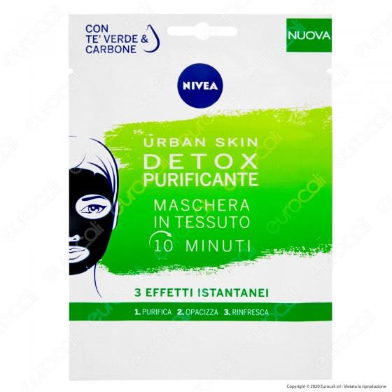 Nivea Urban Skin Detox Maschera in Tessuto - 10 minuti - 1 pz