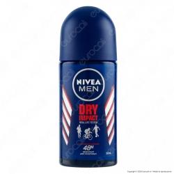 Nivea Men Deodorante Anti-Traspirante Dry Impact Roll-on Senza Alcool - Flacone da 50ml