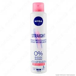 Nivea Straight Spray Modellante per Capelli Lisci Tenuta Flessibile - Flacone da 250ml