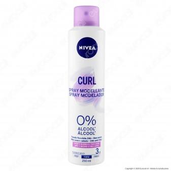 Nivea Spray Modellante Curl per Capelli Ricci Tenuta Flessibile Senza Alcool - Flacone da 250ml