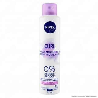 Nivea Straight Spray Modellante Curl per Capelli Ricci - Flacone da 250ml