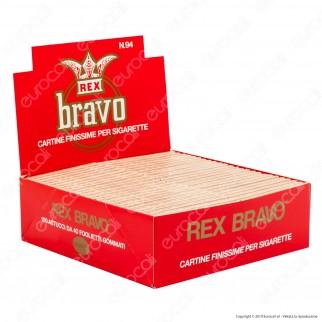 A00034014 - Cartine Bravo Rex Corte Finissime - Scatola da 100 Libretti