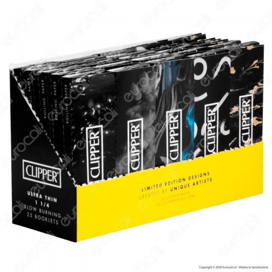 PROV-A00185002 - Cartine Clipper Nere Corte 1¼ - Scatola da 25 Libretti