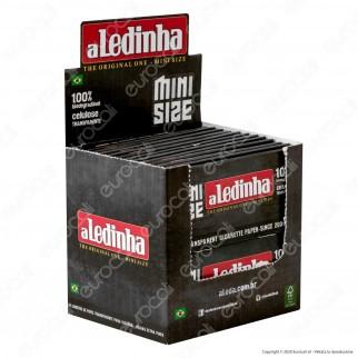 PROV-A00176002 - Cartine Aledinha Mini Size Corte Trasparenti 100% Cellulosa - Scatola da 24 Libretti