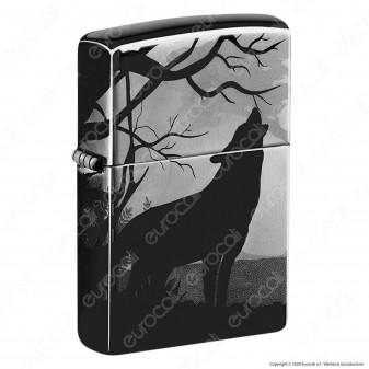 Accendino Zippo Mod. 49188 Wolf 3D - Wolves Design - Ricaricabile Antivento