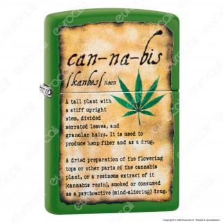Accendino Zippo Mod. 49119 Leaf Moss Green - Ricaricabile Antivento
