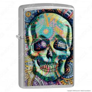 Accendino Zippo Mod. 49140 Multicolor Skull - Geometric Skull Design - Ricaricabile Antivento