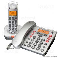 Amplicomms BigTel 480 Telefono Fisso con Segreteria e Cordless per Portatori di Apparecchi Acustici