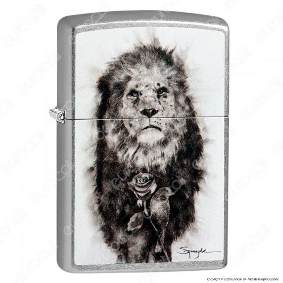 Accendino Zippo Mod. 49088 Spazuk Lion - Ricaricabile Antivento
