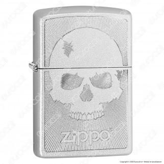 Accendino Zippo Mod. 29858 Skull Engrave - Skull With Lines - Ricaricabile Antivento