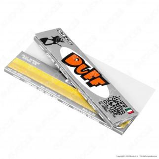 PROV-A00197001 - Cartine Duff Silver King Size Slim Lunghe Argento - Scatola da 50 Libretti [TERMINATO]