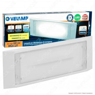 Velamp Holly Lampada LED d'Emergenza Anti Black Out IP65 IK08 Batteria Integrata 1500mAh - mod. ER122