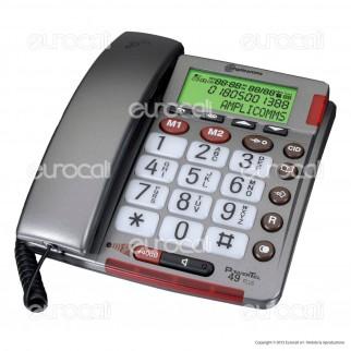 Amplicomms PowerTel 49 Plus Telefono Fisso con Tasti Grandi per Portatori di Apparecchi Acustici