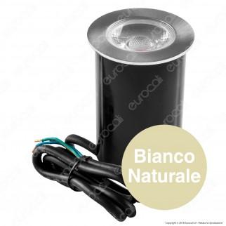 Life Punto Luce LED 4,5W Segnapasso da Interramento in Alluminio IP67 - mod. 39.9PL0352C / 39.9PL0352N