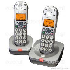 Amplicomms PowerTel 702 Set 2 Telefoni Cordless per Portatori di Apparecchi Acustici