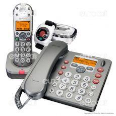 Amplicomms PowerTel 980 Telefono Fisso con Segreteria Cordless e Bracciale SOS per Portatori di Apparecchi Acustici
