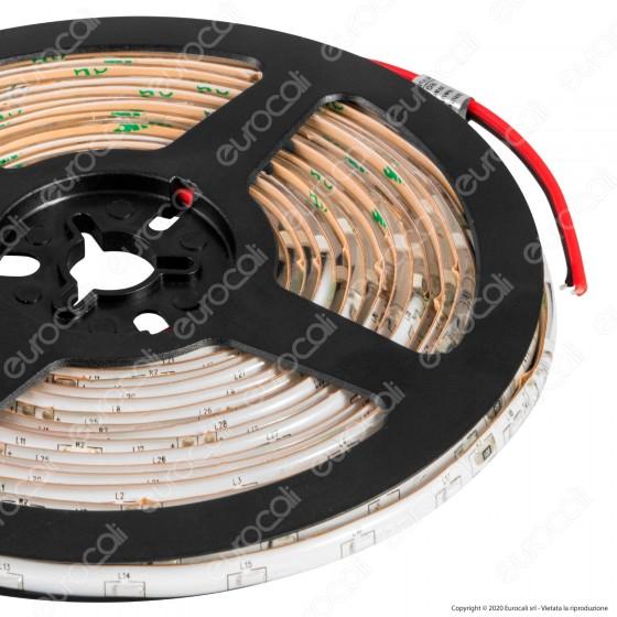 FAI Striscia LED Impermeabile Monocolore 60 LED/metro Emissione Luce Laterale - Bobina da 5 metri - mod. 5116
